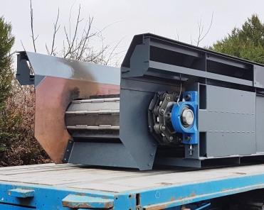 Convoyeur à tapis recyclage ferraille