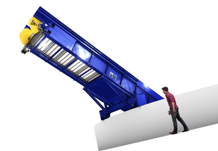 Transporteur dechets industriels