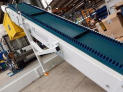 Elevation avec pieds tubulaires convoyeur AL Industrie
